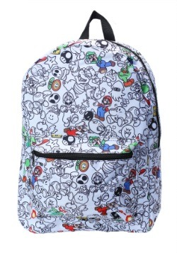 Super Mario Characters All-Over Print Backpack