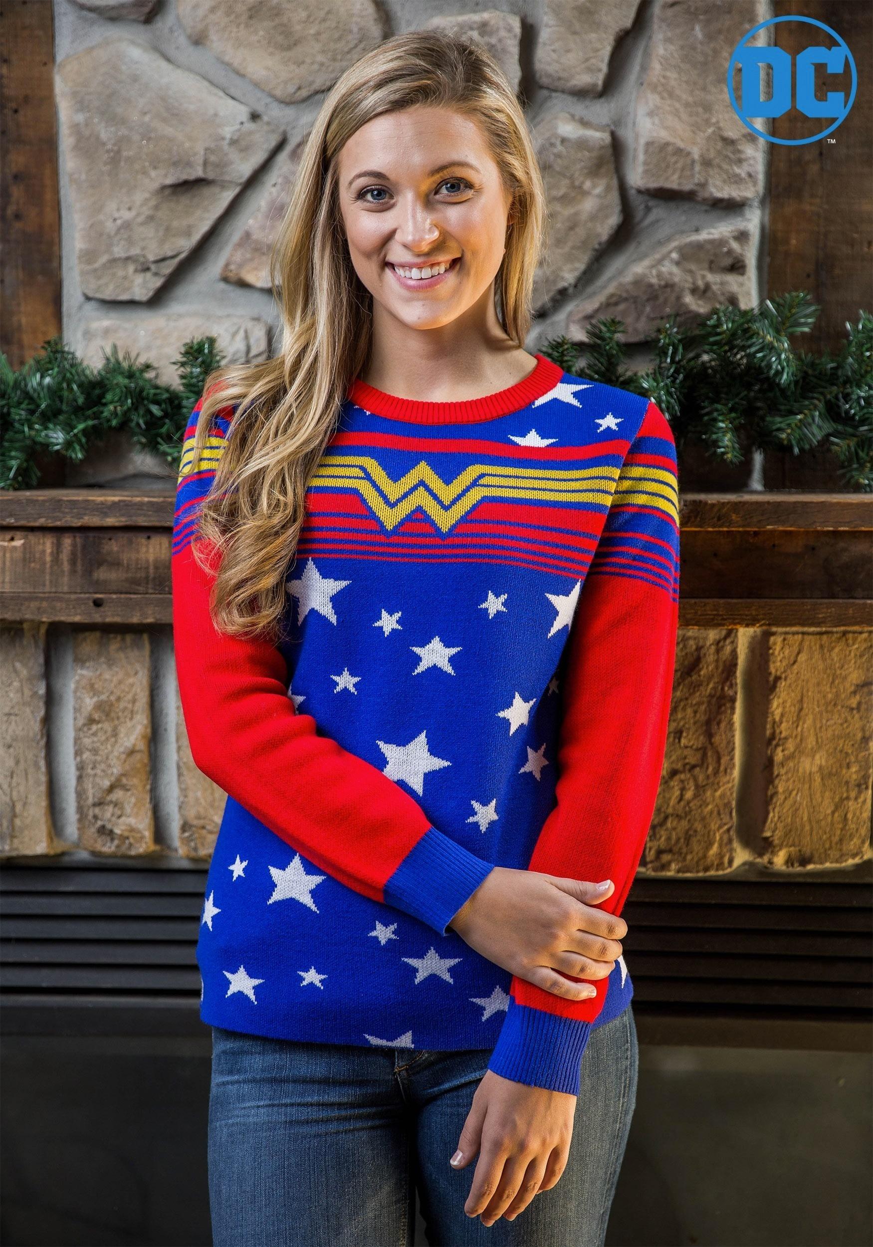 Womens Wonder Woman Tunic Sweater