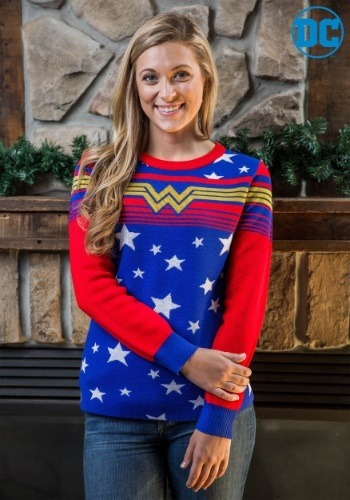 Wonder Woman Tunic Ugly Christmas Sweater For Women