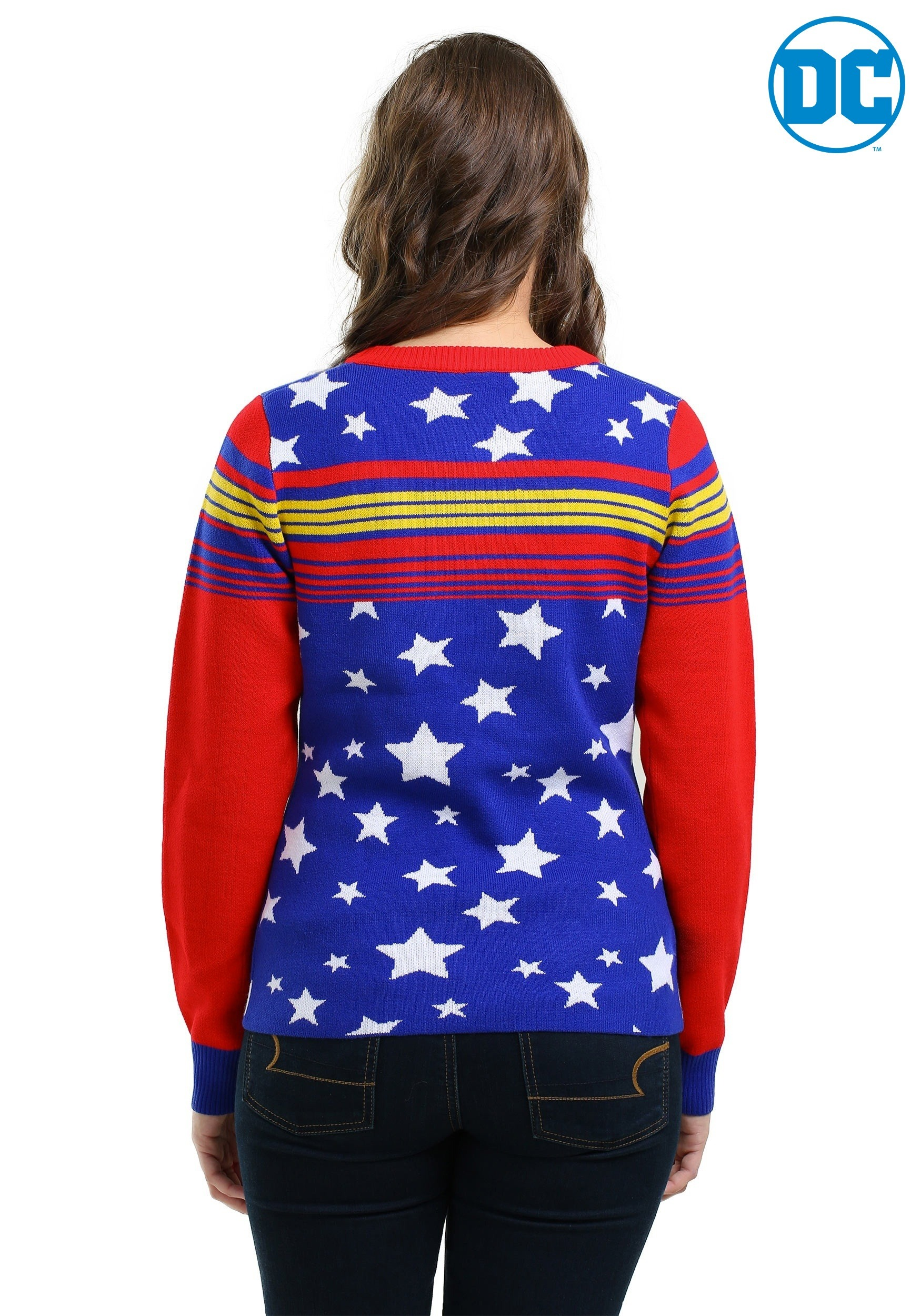 d067ac709 Wonder Woman Tunic Ugly Christmas Sweater for Women