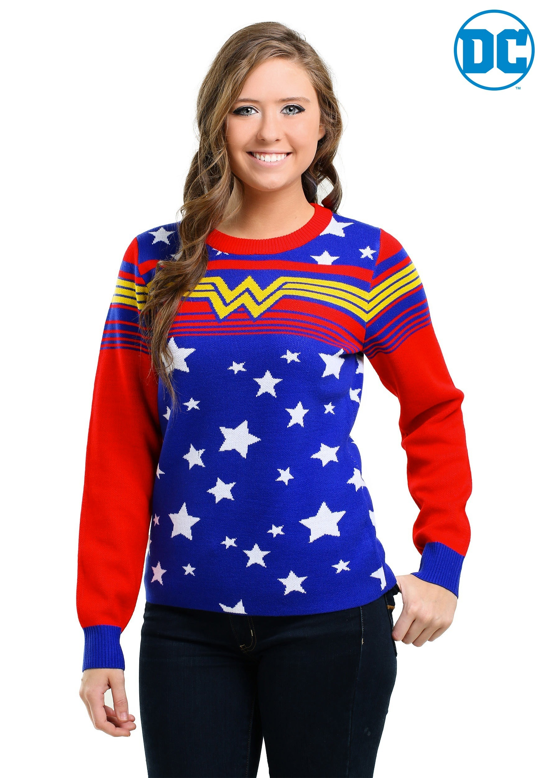 Women S Wonder Woman Tunic Ugly Christmas Sweater