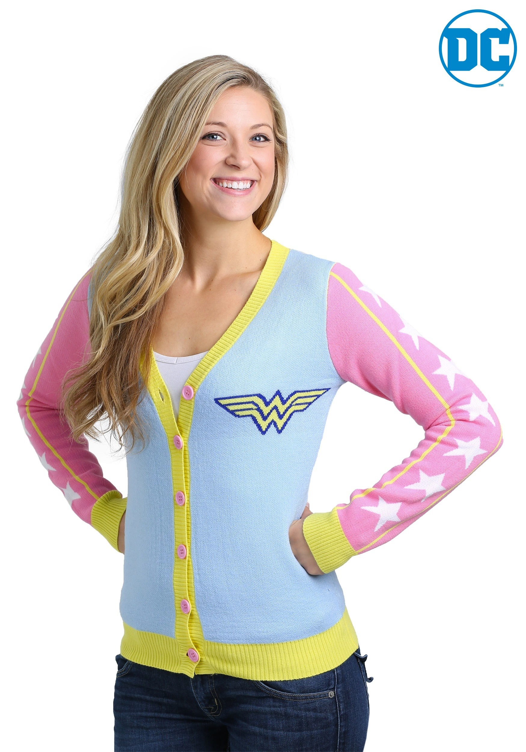 Women's Wonder Woman Retro Ugly Christmas Cardigan
