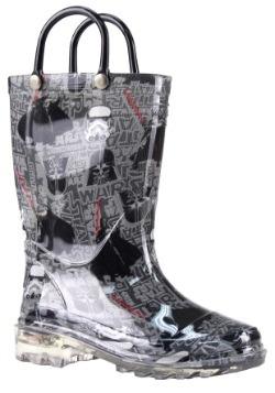 Star Wars Dark Side Kids Lighted Rain Boots