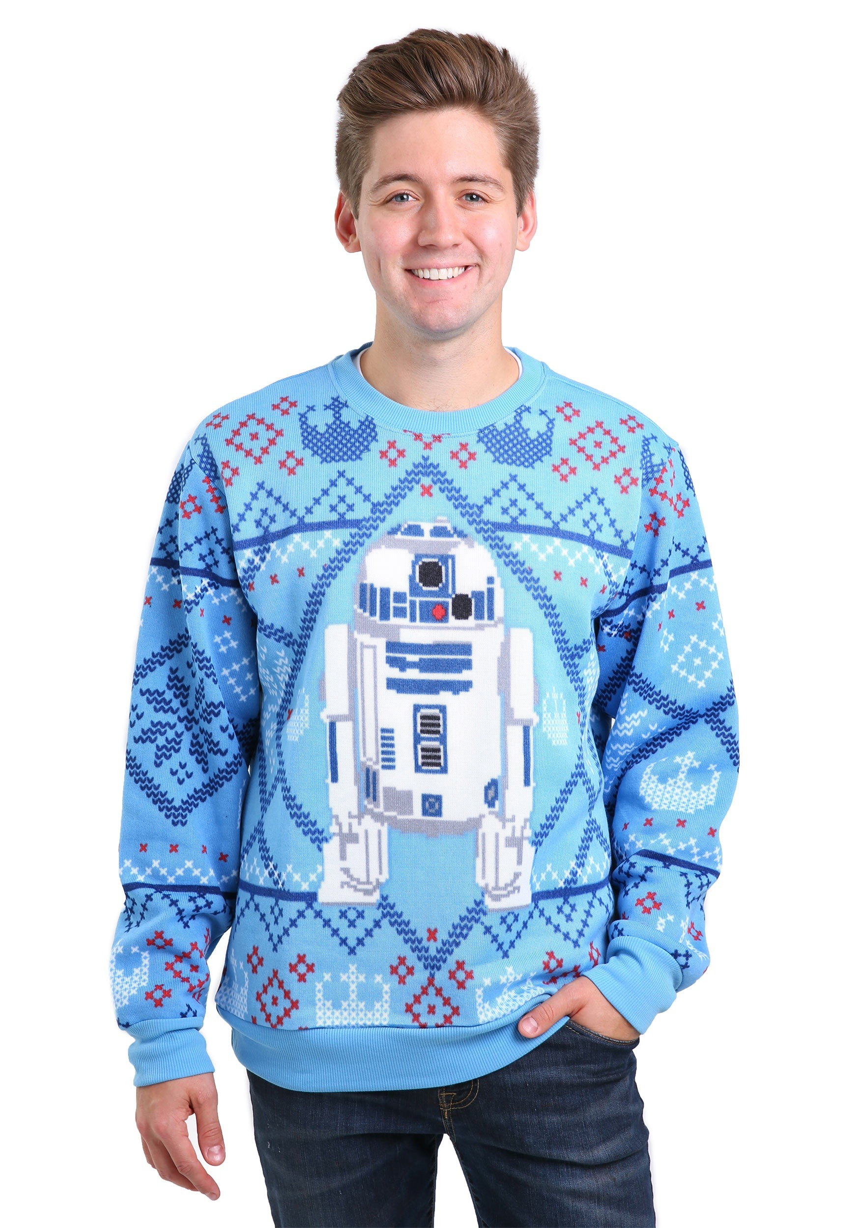 star wars cozy artoo ugly christmas sweater - Cheap Mens Ugly Christmas Sweater