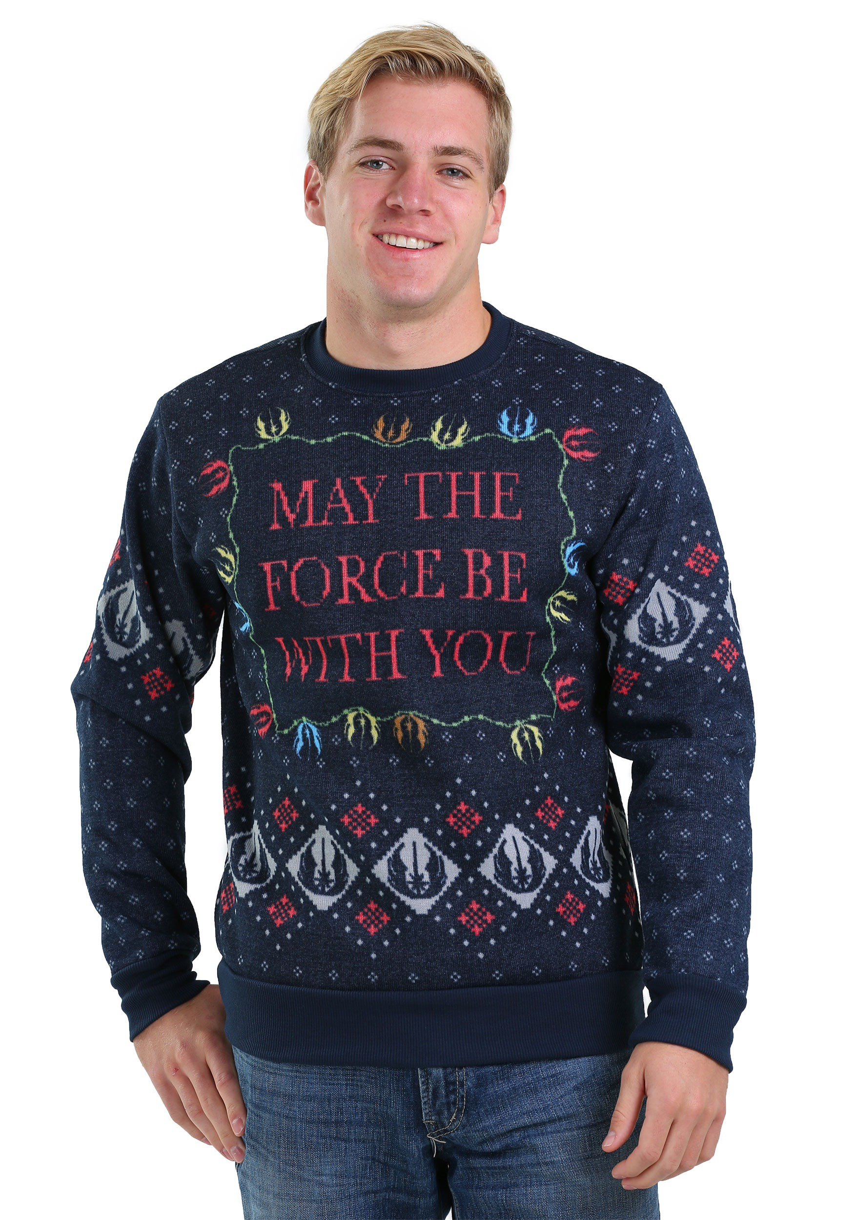 star wars xmas force mens ugly christmas sweater - Cheap Mens Ugly Christmas Sweater