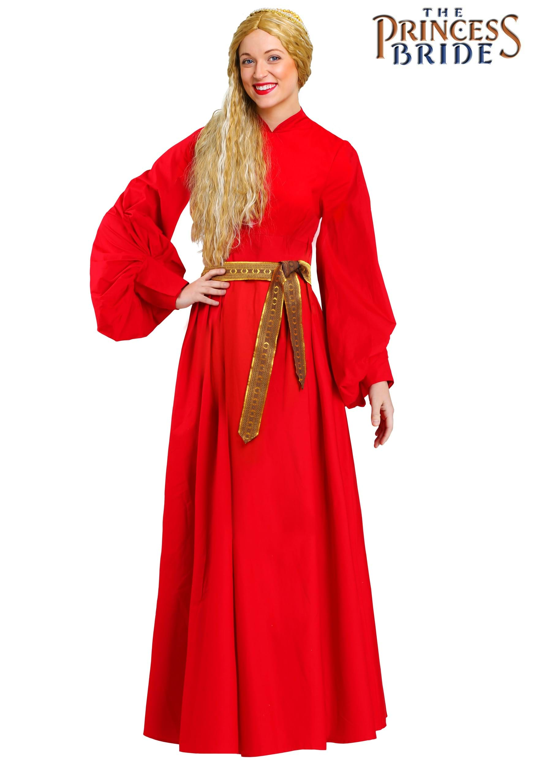 Princess Bride Buttercup Red Dress Costume For Women