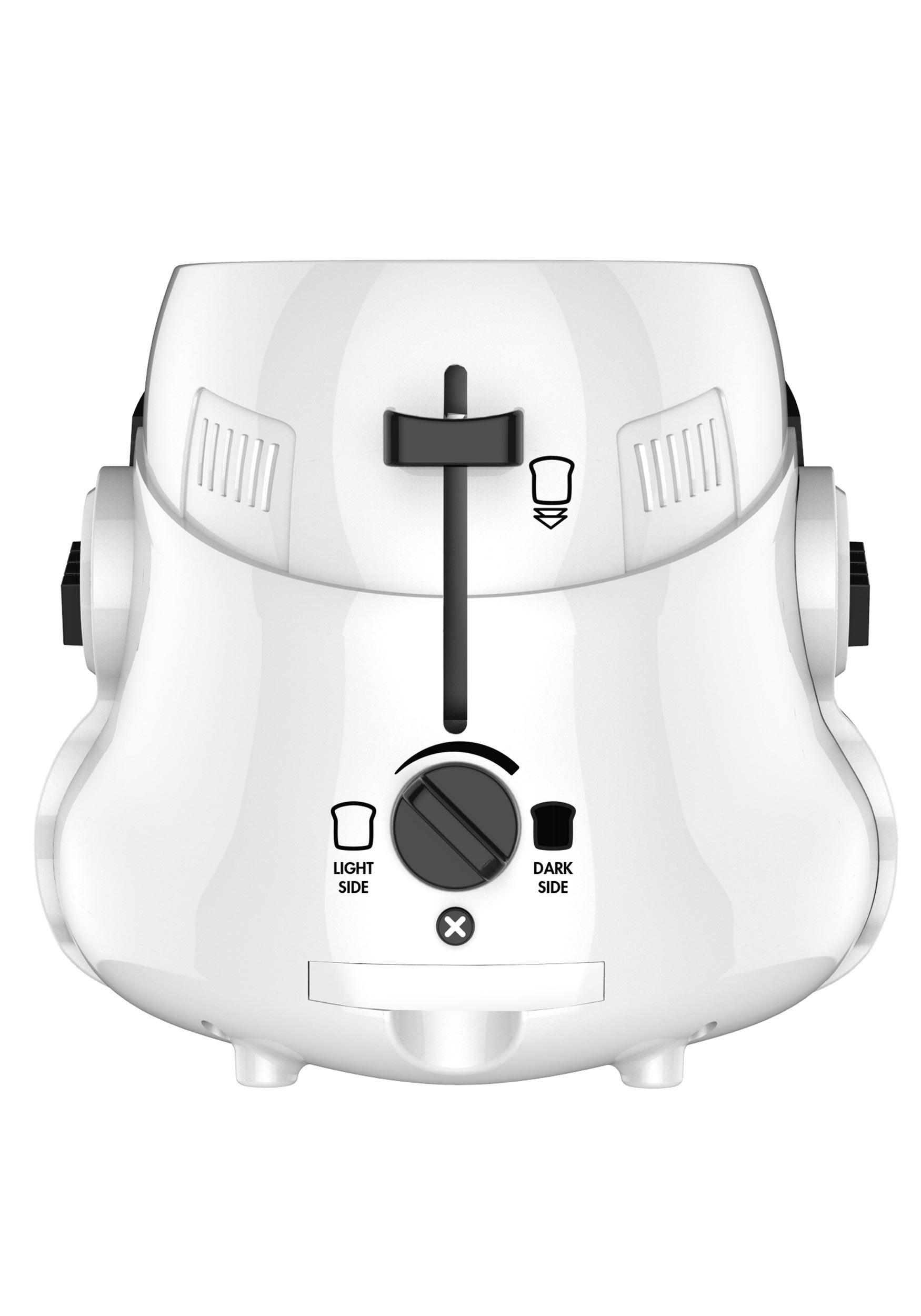 Stormtrooper 2 Slice Toaster In Gloss White