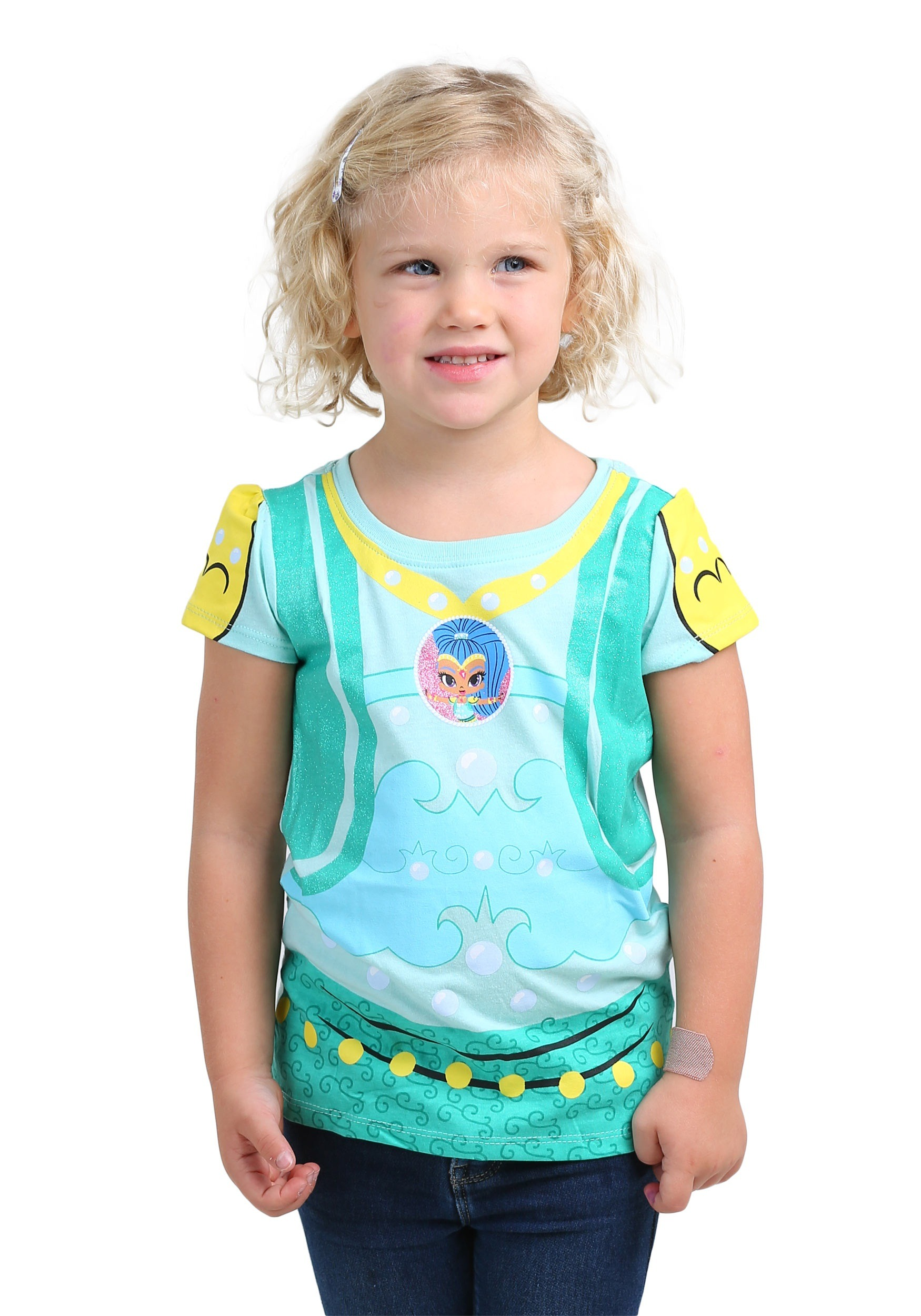 shimmer and shine costume tee for toddler girls
