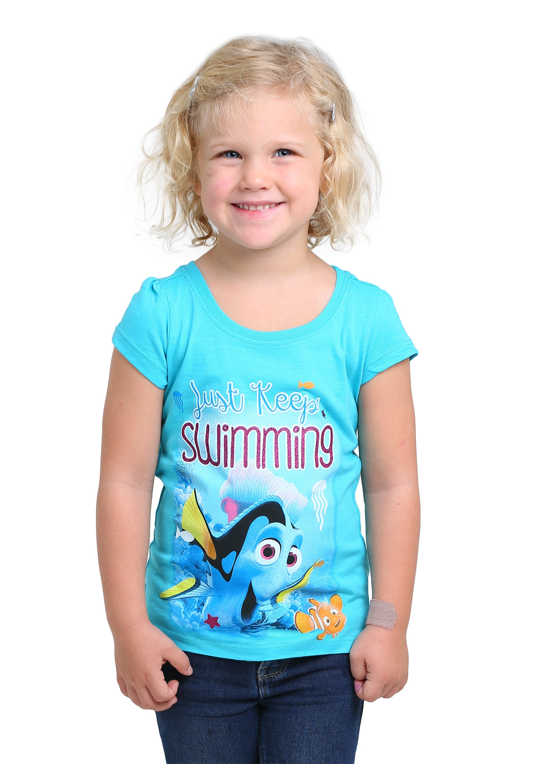 Finding Dory Just Keep Swimming T-Shirt For Toddler Girls