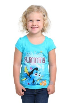 Toddler Girls Finding Dory Just Keep Swimming T-Shirt