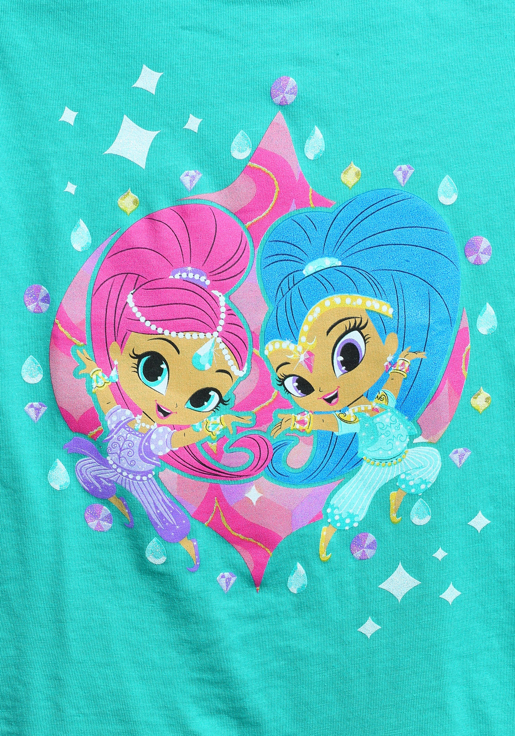 Shimmer And Shine Twins Together T Shirt For Toddler Girls