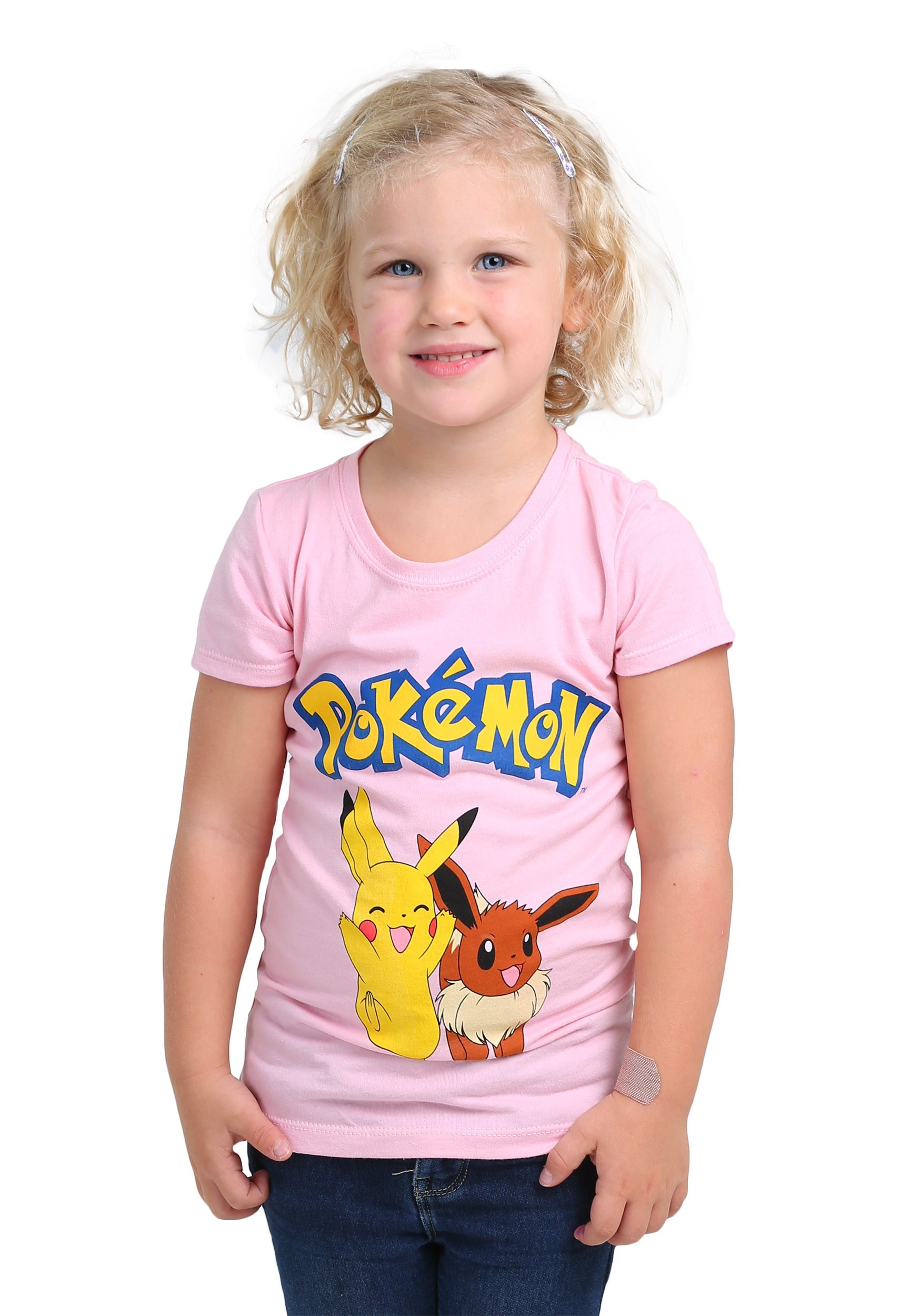 898d6434 Pikachu & Eevee Girls T-Shirt from Pokemon