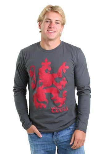 Mens Miller Coors Lion Logo Long Sleeve
