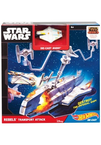 Hot Wheels Star Wars Rebels Transport Attack Playset