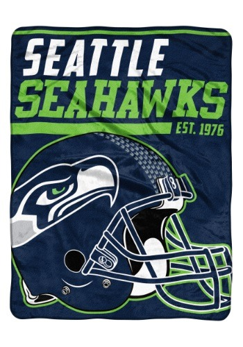 "Seattle Seahawks 46""x 60"" Micro Raschel Throw Blanket"