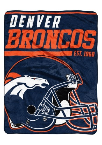 "Denver Broncos 46"" x 60"" Micro Raschel Throw Blanket"