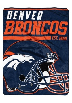 "Denver Broncos 46"" x 60"" Micro Raschel Throw Blanket"