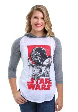 Star Wars Group Shot Juniors Hooded Raglan Shirt
