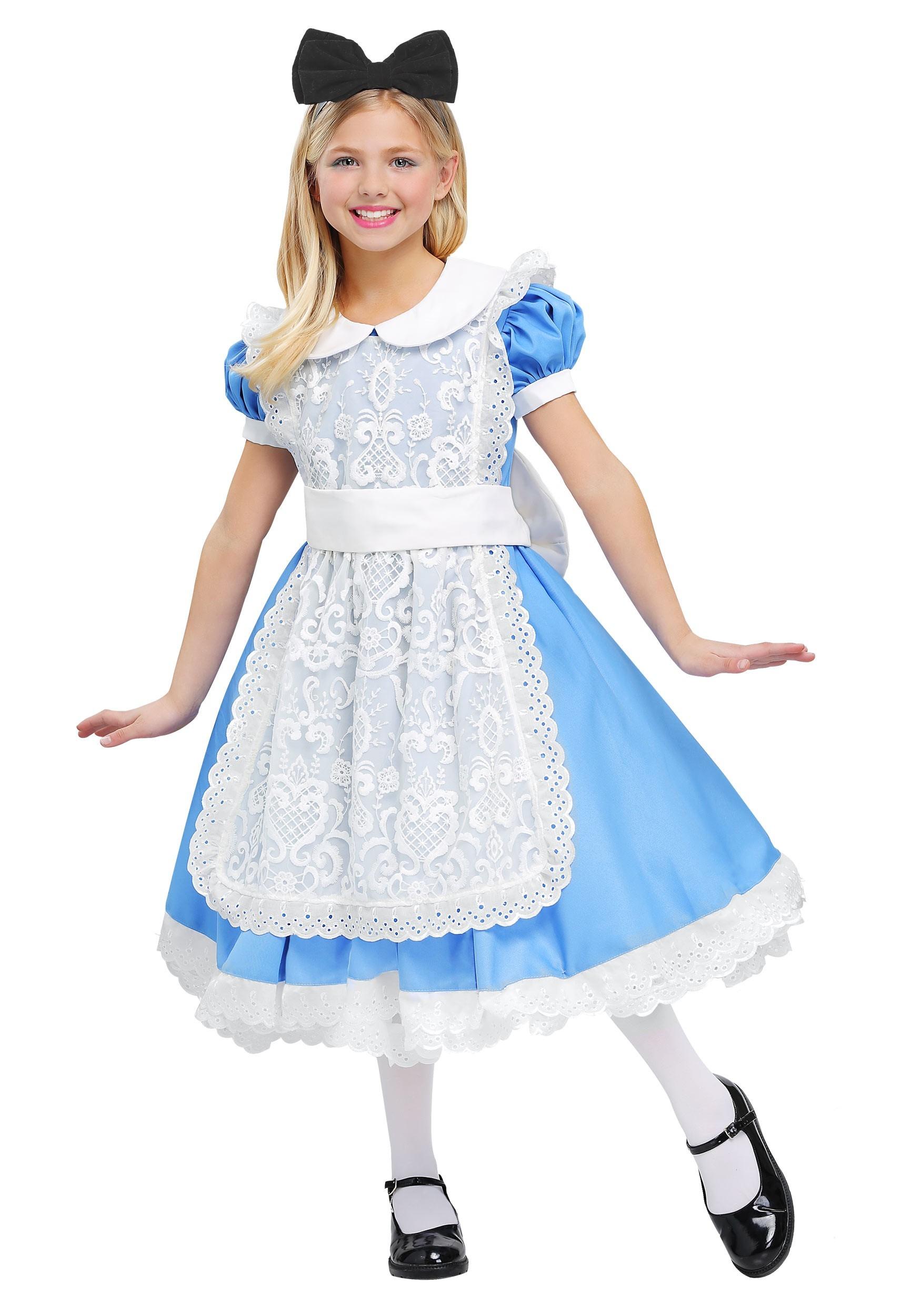Elite Alice Girls Costume  sc 1 st  Fun.com & Elite Alice Costume for Girls
