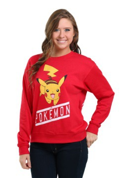 Pokemon Front & Back Pikachu Juniors Crew Sweatshit