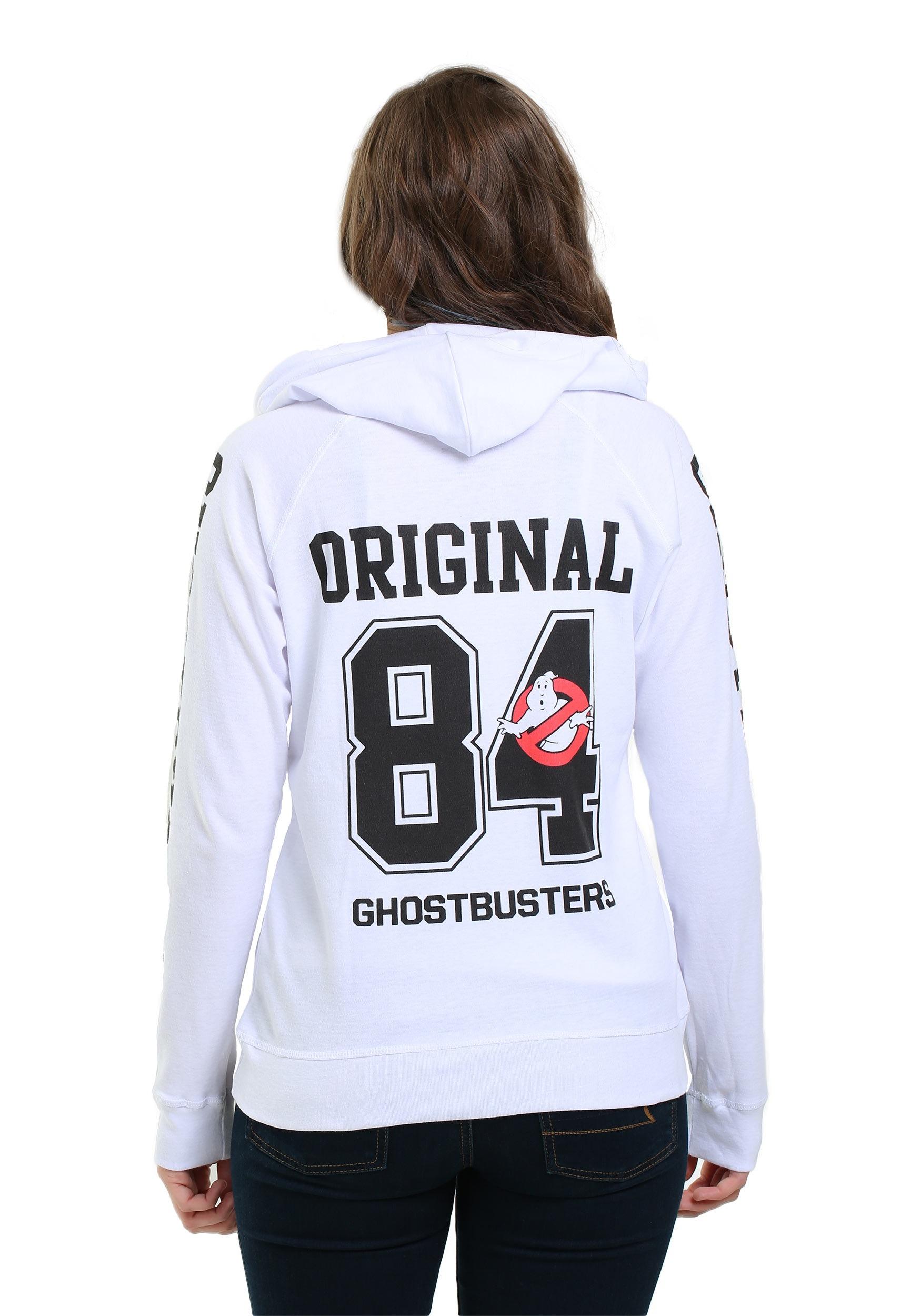 ghostbusters front  u0026 back print hoodie for juniors