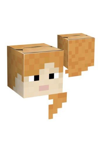 Minecraft Alex Cardboard Head JI6210
