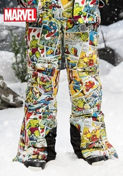 Kids Marvel Comic Print Snow Pants upd