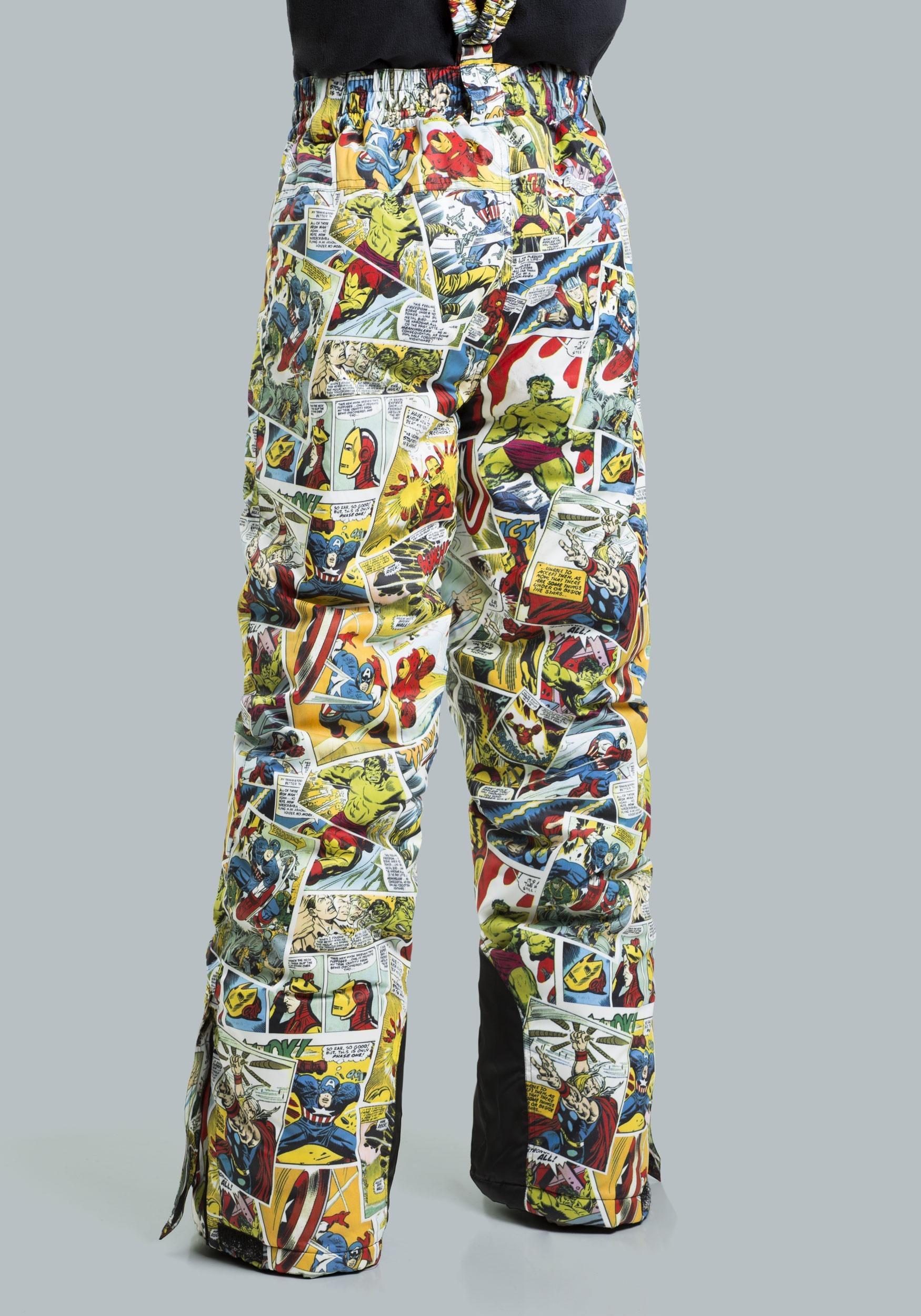 5e34c613a Marvel Comic Print Superhero Snow Pants for Kids