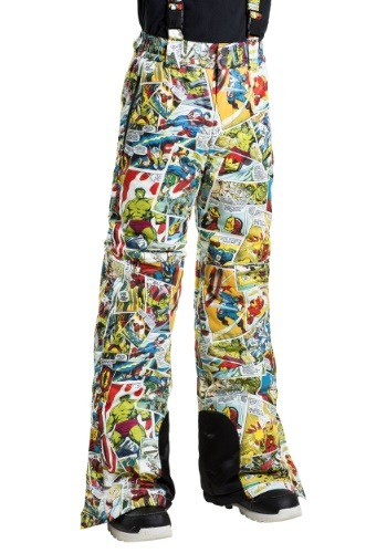 Kids Marvel Comic Print Superhero Snow Pants