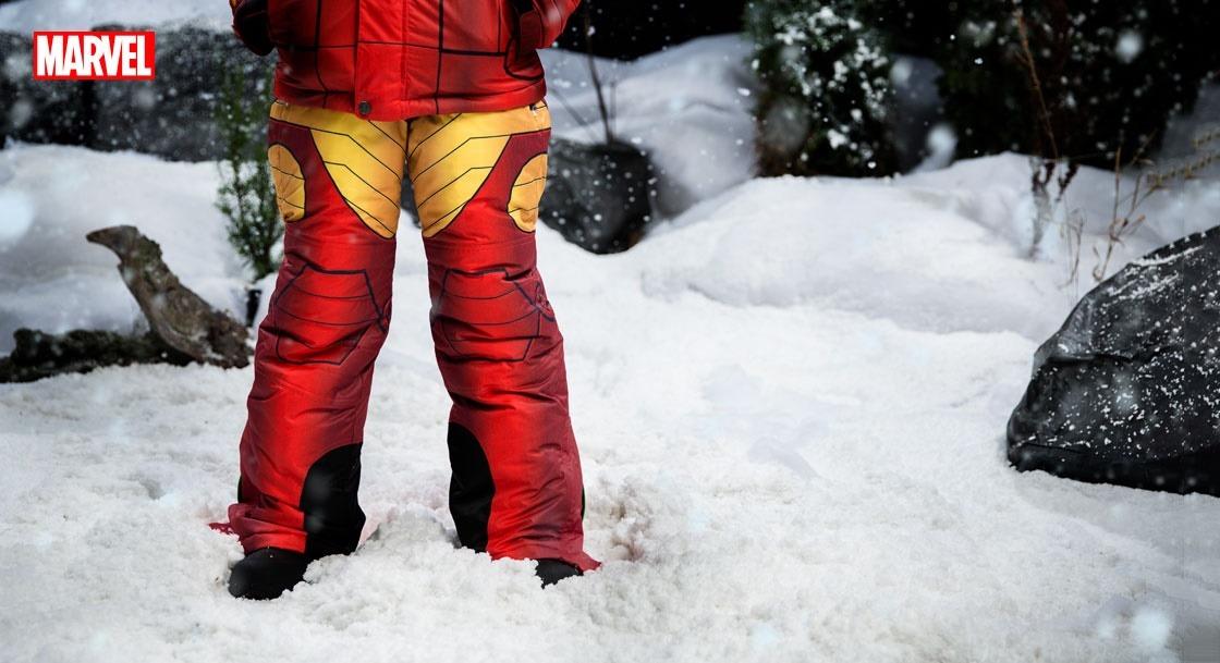 Kids Iron Man Snow Pants