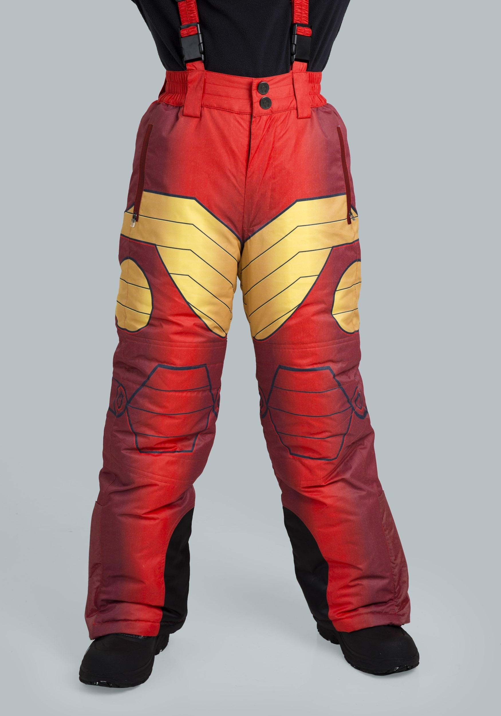 kids iron man superhero snow pants