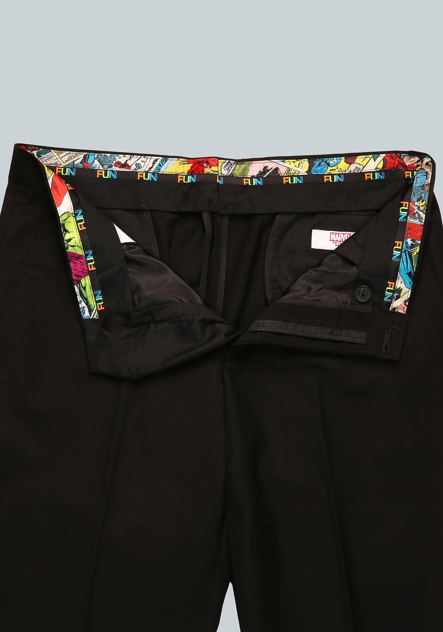 Marvel Comic Strip Slim Fit Suit Pants (Secret Identity)2