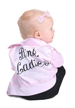 Grease Infant Pink Ladies Costume Alt 1