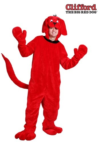 Plus Size Clifford the Big Red Dog Costume