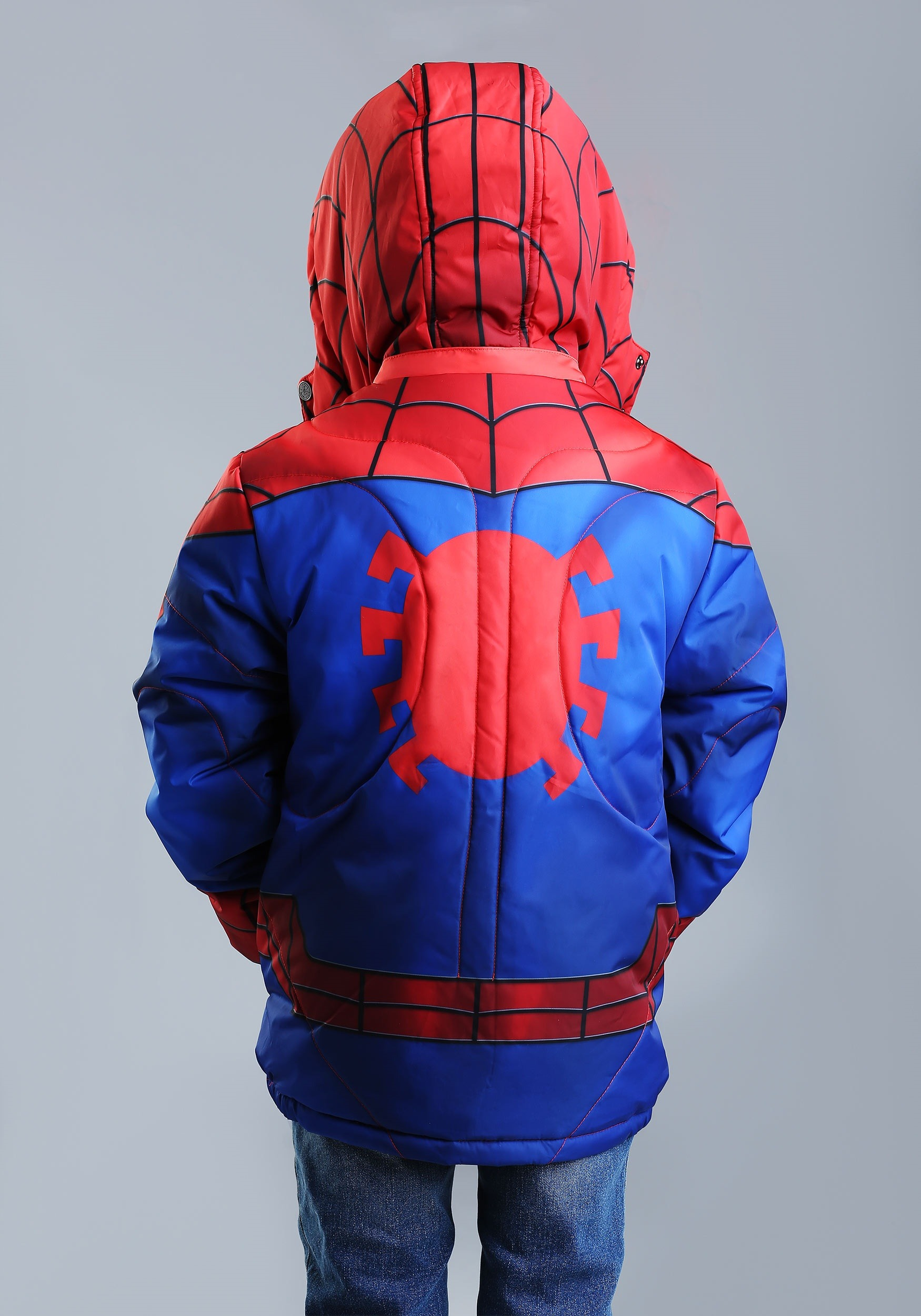 Spider Man Puffer Superhero Jacket For Kids