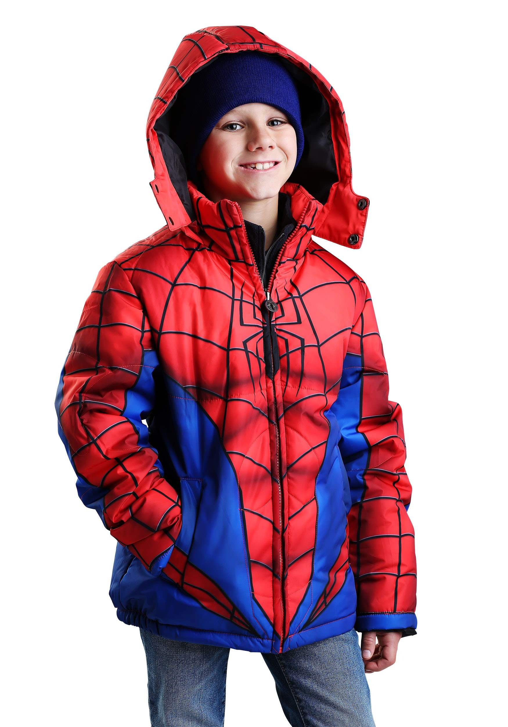 Child Spider-Man Muscle Puffer Jacket FUN9065CH
