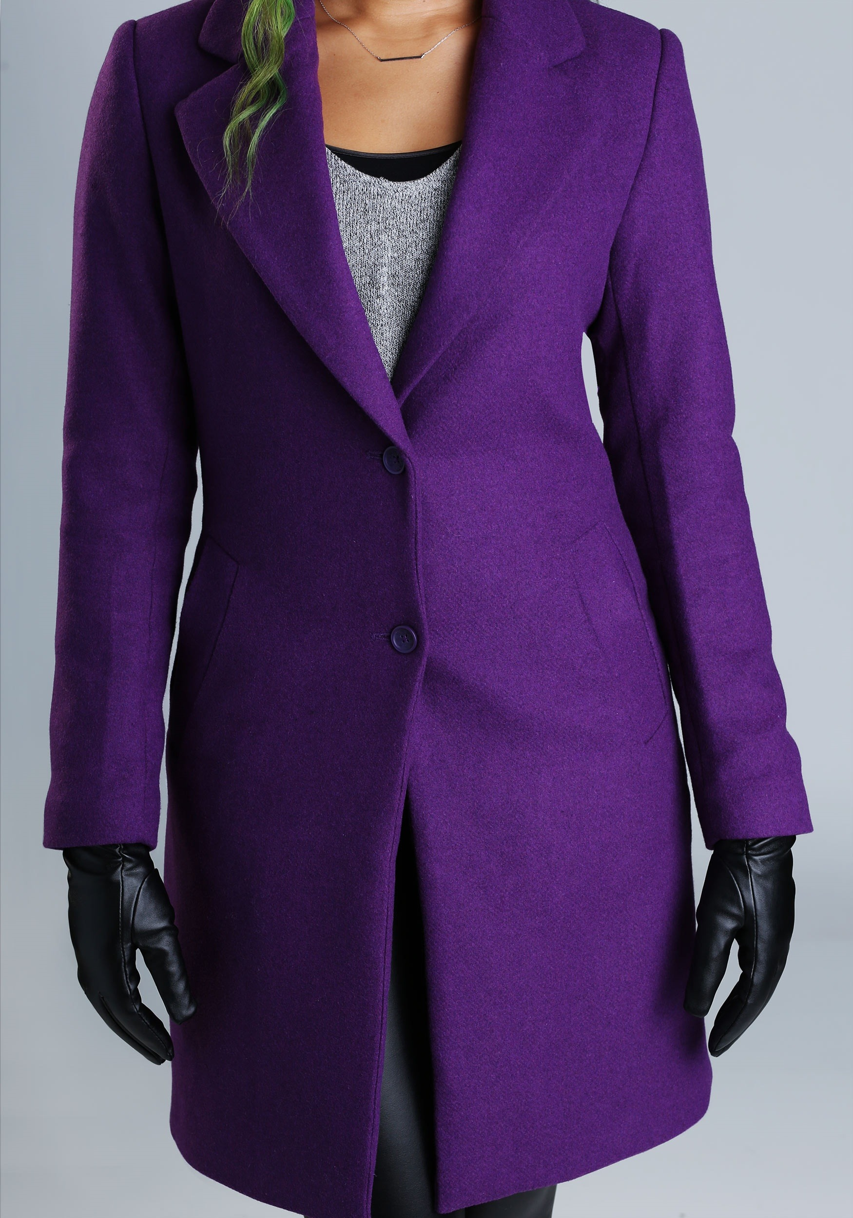 DC Comics The Joker Wool Coat for Women