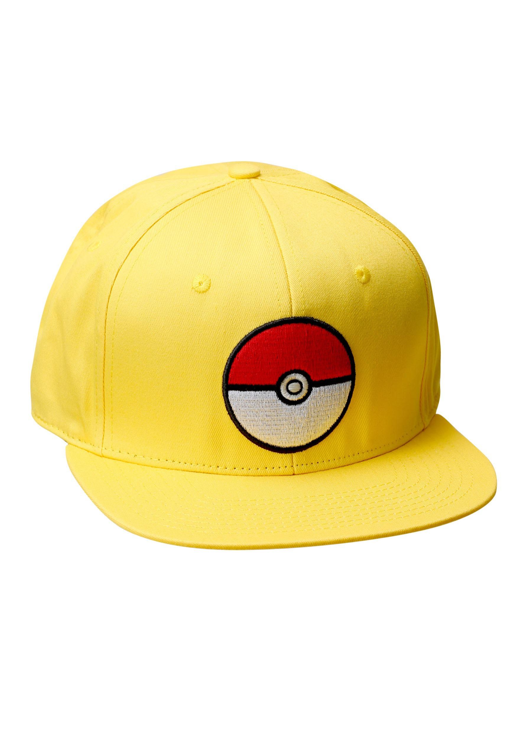 Pokemon Pokeball Trainer Yellow Snapback Hat BWSB4XG1POK00RE00