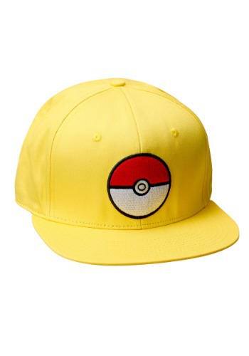 Pokemon Pokeball Trainer Yellow Snapback Hat BWSB4XG1POK00RE00-ST