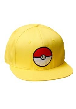 Pokemon Pokeball Trainer Yellow Snapback Hat