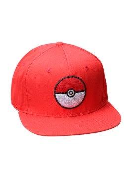 Pokemon Pokeball Trainer Red Snapback Hat