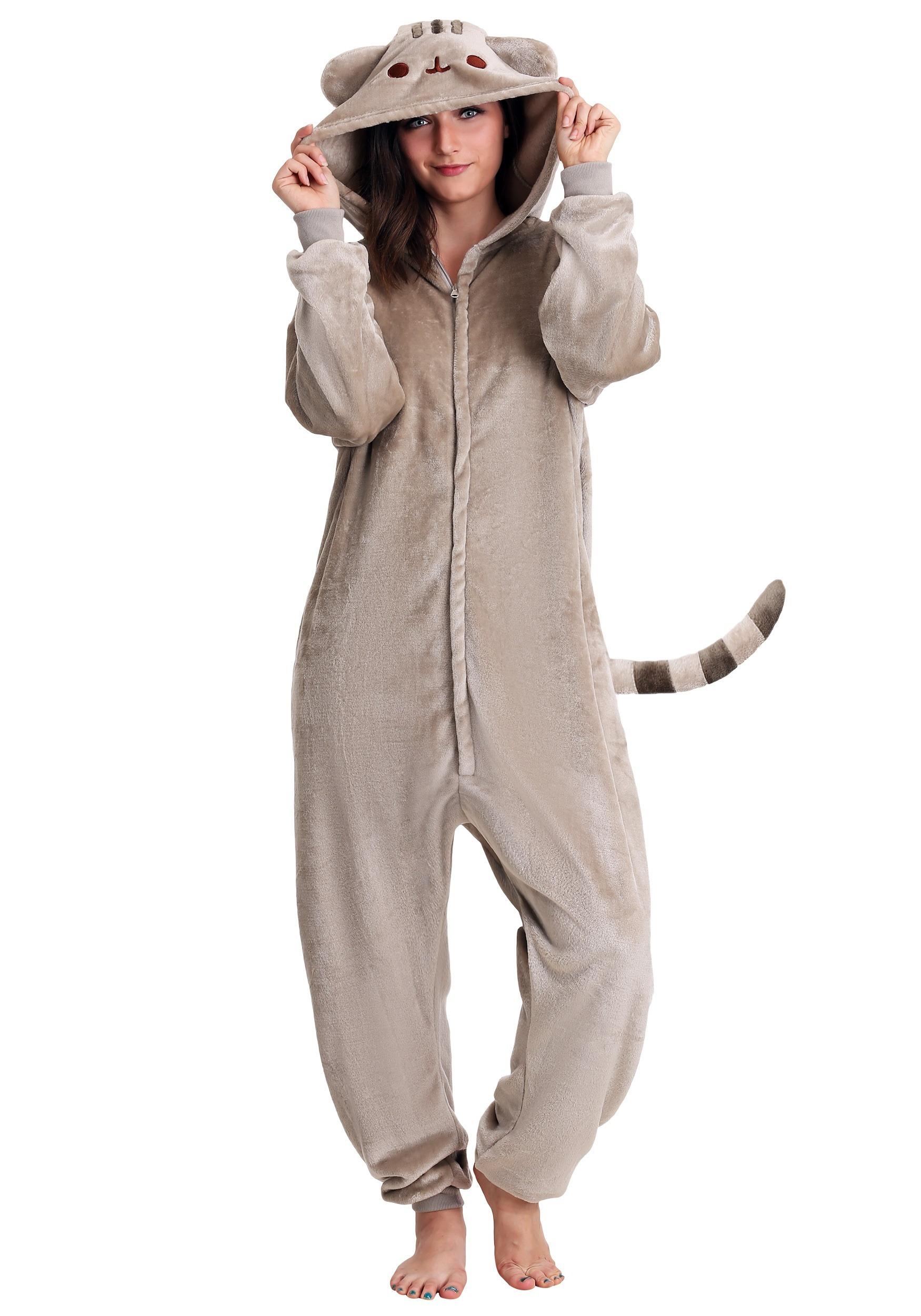 c99b133cca3771 Adult Kigurumi Pajamas Pusheen Cat
