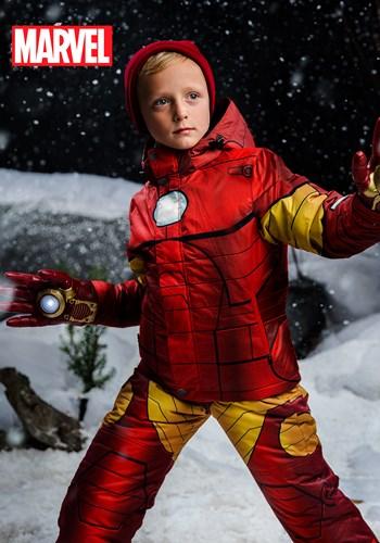 Kids Iron Man Superhero Snow Jacket