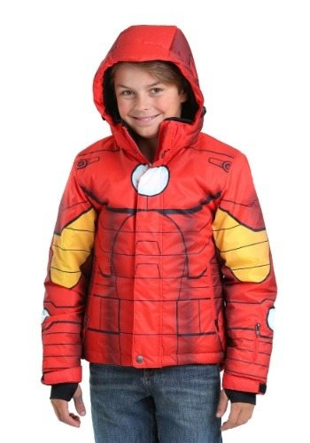 Kids Iron Man Superhero Snow Jacket