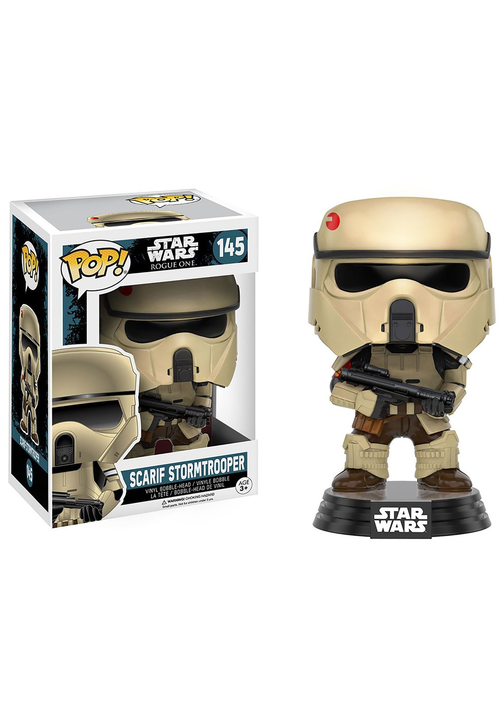 Star Wars Rogue One Scarif Stormtrooper POP Bobblehead Figure FN10460