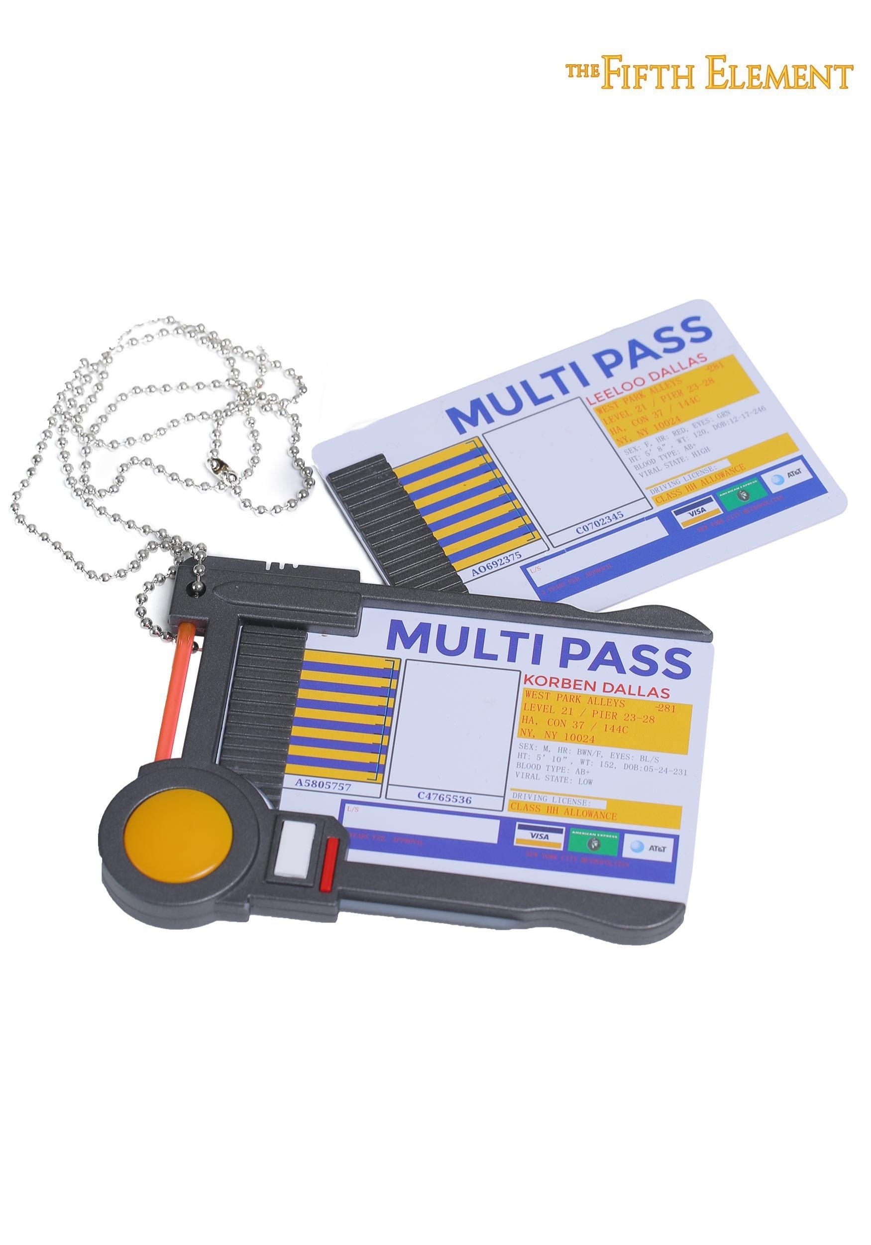 Nerd Block The Fifth Element Multi Pass Prop Replica Collectible Props &  Memorabilia Toys & Games