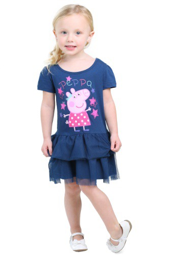 Peppa Pig Pink Hearts Todder Girls Tutu Dress