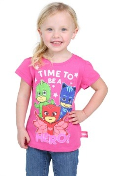 PJ Masks Time To Be A Hero Toddler Girls T-Shirt