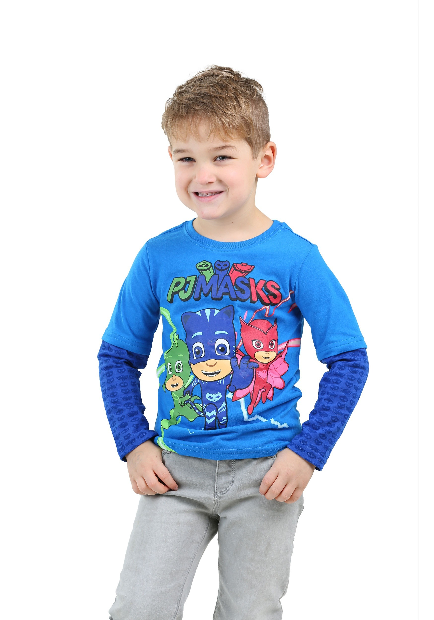 Group Shot Toddler Boys Long Sleeve T-Shirt from PJ Masks