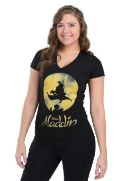 New World Aladdin Womens V Neck Tee